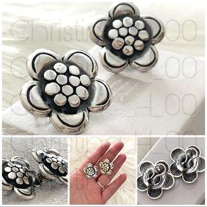 James Avery flower French clip earrings pierced